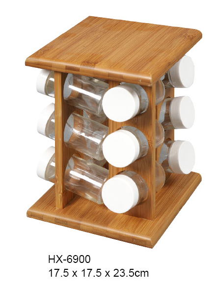 bamboo spice storage rack