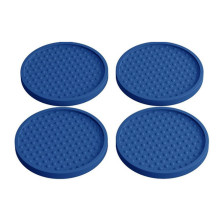 Elegant Blue Herbruikbare Drink Coasters 4-pack