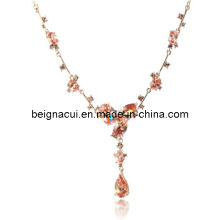 Sw Elements Topaz Color Modern and Beautiful Necklace