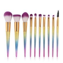 Metallic Makeup Brush Set 10 Pcs