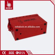 O kit de bloqueio de segurança em aço inoxidável BD-X02 pode acomodar 12 cadeados