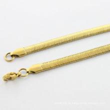 Alibaba proveedor, 2014 collar de oro de moda con ciempiés para los hombres, collar de oro