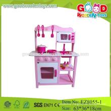 Wooden toys for educational kitchen set pretend play kitchen set