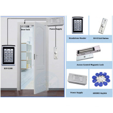DIY Access Control 125KHz Rfid Keypad Access Control System Kit + Electronic Magnetic Door Lock + Power Supply + 10pcs tags