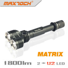 Maxtoch MATRIX Dual Head Broad View Cree XML U2 1800 Lumens 2*18650 Battery Hign-end Cree LED High Power Flashlight