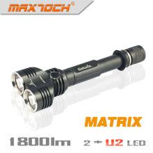 Maxtoch матрица двойной головы широкий взгляд Cree XML U2 1800 люмен 2 * 18650 батареи Hign конец Cree СИД высокой энергии фонарик