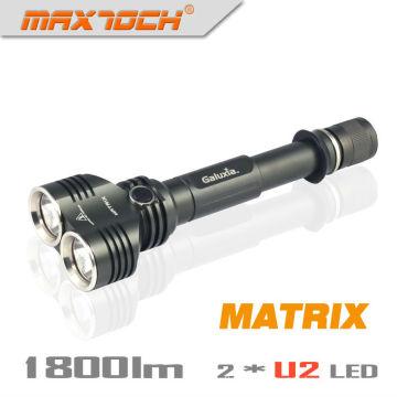 Maxtoch MATRIX Dual Head Broad View Cree XML U2 1800 Lumens 2*18650 Battery Hign-end Cree LED High Power Flashlight