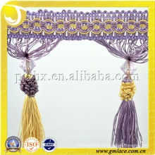 Purple Stock Beautiful Tassel Fringe,Curtain Trimming Fringe,Curtain Fringe,Trim Fringe for Curtain