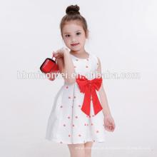 Vestido feito sob encomenda da menina da criança da roupa das crianças de alta qualidade novas do modelo para o verão