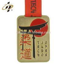 Professionnel bronze antique bronze personnalisé graver Japon fabrication de médaille en métal judo
