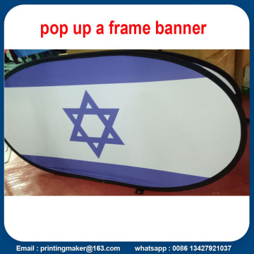 Tela Oval Pop Up Banner Printing