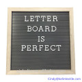 Changeable letter board 10*10inch letterboard with black felt for decoration Changeable letter board 10*10inch letterboard with black felt for decoration