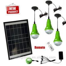 Portable a conduit kit d'éclairage solaire lumière pratiqué par panneau solaire 12W
