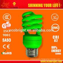 T3 13W половину спираль цветные лампы экономии энергии 10000H CE качества