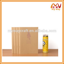 Saddle stitching notebook,ancient Kraft paper notepad,handmade paper diary