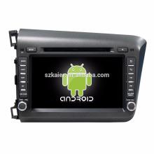 ¡Ocho nucleos! DVD del coche de Android 7.1 para Civic 2012-2015 con pantalla capacitiva de 8 pulgadas / GPS / Mirror Link / DVR / TPMS / OBD2 / WIFI / 4G