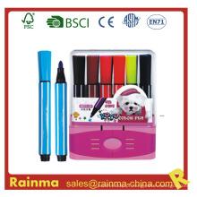 Mini caneta de cor de água na caixa de PP
