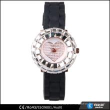 Relógio de pulso de silicone para mulheres, relógio de quartzo sr626sw