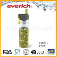 Fabricantes baratos de la botella de plástico con la tapa de la paja fácil que beben