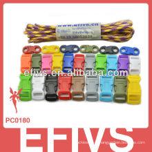 2015 fivelas coloridas do paracord do hotsale
