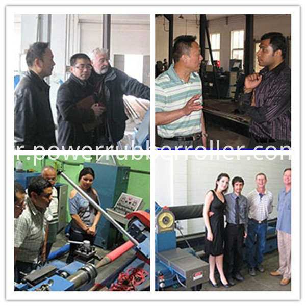Our Customer For Rubber Roller Machine