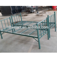 Cheap price iron material double decker green bed