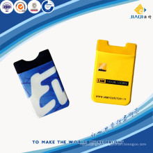 Hot sales silicone mobile phone card holder
