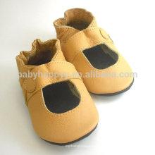 2016 Shenzhen de alta calidad suaves zapatos de cuero único bebé para bebé