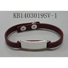 PU Bracelet with Metal Pendant Fashion Jewelry