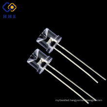 Through hole 8mm water clear red concave led dip diode