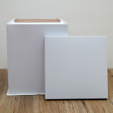 White tall cake box