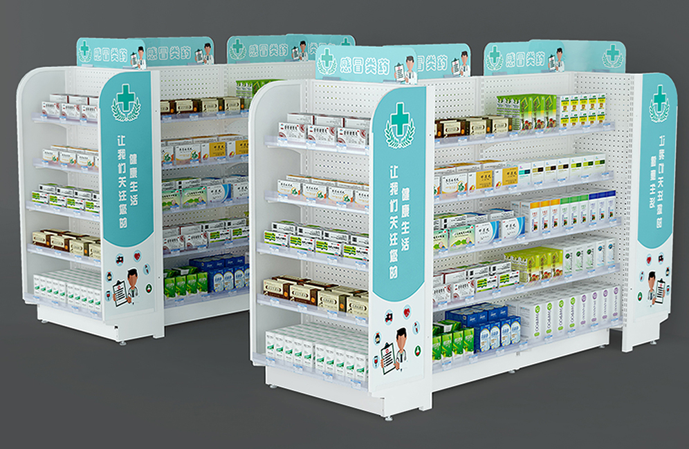 Commerical Steel Pharmacy Shelf