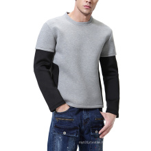 2021 Oversized New Autumn Large Size Fashion Space Cotton Men's Sweater Pullover Long Sleeve Two-Piece Stitching Suit