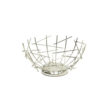 Creative Iron Fruit Bowl Countertop Storage Basket Fruit Vegetables Storage Basket For Livingroom Countertop