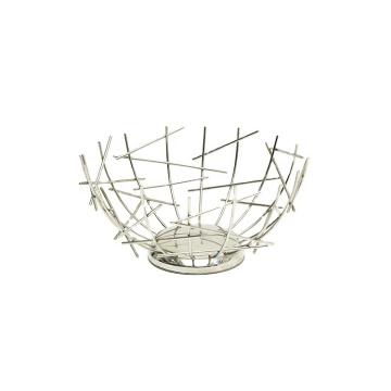 Creative Iron Fruit Bowl Countertop Storage Basket Fruit Vegetables Storage Basket For Livingroom Countertop