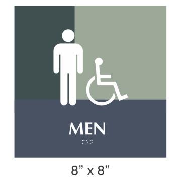 USA Grade 2 Tactile Braille Ada signe