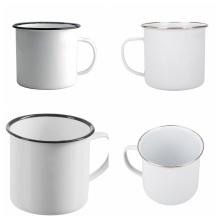 Traditional Enamel White Tea/Coffee Mugs