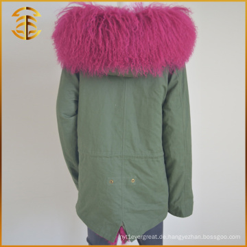 Preiswerter kundenspezifischer Hooded Coat Thick Jacket Winter Hooded Pelz Parka