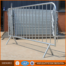 Barrera de control de multitud de metal de seguridad