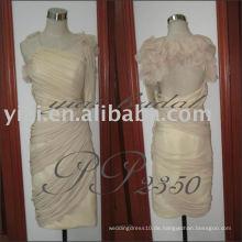 PP2350 reizvolle Chiffon- eine Schulter formale kurze Kleidermuster