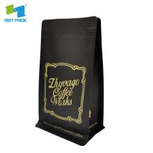 emballage de sachet de thé noir en plastique forsted translucide