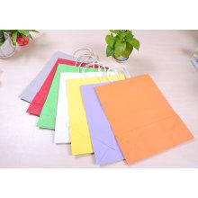 Sacs en papier pour emballage à manches colorées à la mode pour emballage cadeau