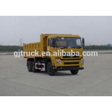 Dongfeng 6X4 drive dump truck para 14-24 metros cúbicos