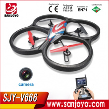 JJRC Hot&New Toys! 5.8G 6 axis gyroscope Large Scale RC Quadcopter with lcd HD camera monitor FPV RC Drone SJY-JJRC-V666