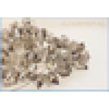 Machine Cut glass cylinder shape beads