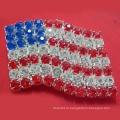 Новый дизайн одежды звезд и полос Американский флаг Акриловые бантики Броши / булавки для одежды как