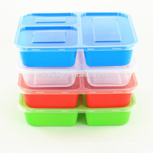 Leakproof Microwavable Colorful Plastic Bento Lunch Box with dividers Leakproof Microwavable Colorful Plastic Bento Lunch Box with dividersof