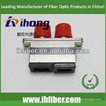 Adaptador SC FC / adaptador híbrido óptico carcasa de metal dúplex