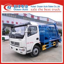 Dongfeng hidráulico pequeño brazo oscilante camión de basura