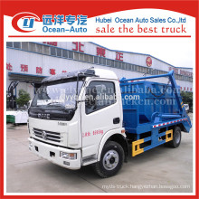Dongfeng hydraulic small swing arm garbage truck